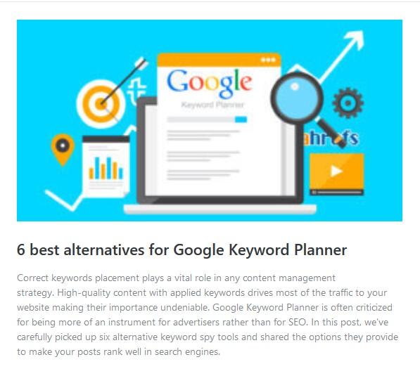 alternatives for google keyword planner
